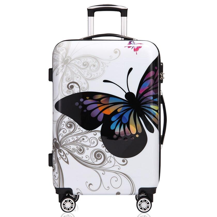 Monzana Hartschalenkoffer Butterfly Größe L