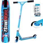DEUBA Stunt Scooter bis 100kg Freestyle Roller blau