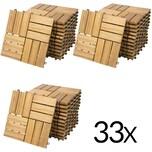 Deuba 3m² Holzfliese aus Akazie 30x30cm Mosaik 33 Stück
