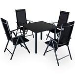 Casaria Aluminium Sitzgruppe 4+1 Vertellbare Hochlehner Anthrazit
