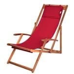 Deuba Sonnenliege aus Akazienholz rot 3-fach verstellbar