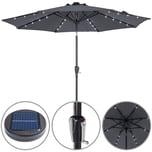 Kingsleeve Sonnenschirm LED-Beleuchtung Anthrazit