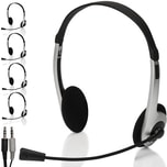 Deuba 5x Headset flexibles Mikrofon verstellbare Kopfbügel