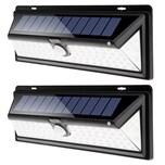 Monzana 2x Solarwandleuchten Bewegungsmelder