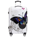 Monzana Hartschalenkoffer Butterfly Größe XL