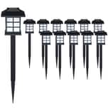 Deuba 12x LED Solarleuchten Gartenleuchte wiederaufladbarer Akku