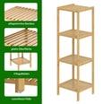Casaria Standregal Bad Badregal Holz Bambus 4 Etagen