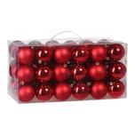 Casaria Weihnachtskugeln 54tlg. - rot