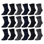 18 Paar Pierre Cardin® Socken Anthrazit - Blau - Schwarz -39-42