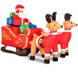 Monzana Weihnachtsmann im Schlitten aufblasbar