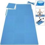 Deuba Bodenschutzmatte 8er Set Schaumstoffplatten Gesamt 1,62m²