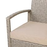 Casaria Polyrattan Lounge-Set UV-Beständig Schmutzabweisend