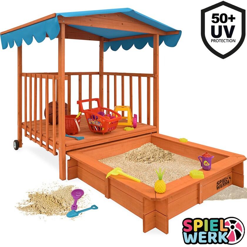 Deuba Sandkasten mit Dach UV 50 Sandkiste