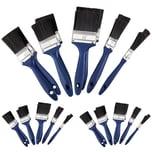Deuba 30x Malerpinsel Set in 5 verschiedene Größen Pinselset blau