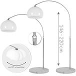 Monzana Design Bogenlampe XL mit Marmorfuß