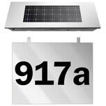 Deuba Solarhausnummer Edelstahl beleuchtet transparent