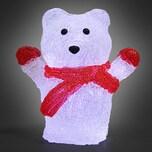 Deuba Acryl Figur Eisbär kaltweiße LEDs