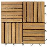Deuba Holzfliese Stecksystem Quattro Mosaik