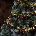 Lichterkette mit Weihnachtskuglen braun 2m Timerfunktion