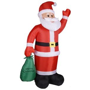 Monzana Weihnachtsmann mit Beleuchtung aufblasbar