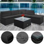 Deuba XXL Polyrattan Lounge-Set UV-Beständig