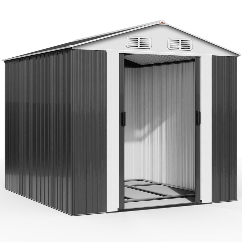 Deuba XXXL Gerätehaus mit Fundament Kantenschutz
