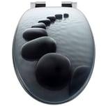 Toilettensitz Stonedesign mit Absenkautomatik und Edelstahlscharnieren