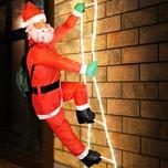 Deuba Weihnachtsmann auf Leiter / 48 LED