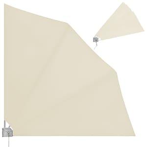 Deuba Balkonfächer klappbar mit Wandhalterung UV-beständig Beige