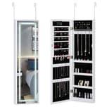 Casaria LED Schmuckschrank hängend für Tür- & Wandmontage weiß