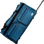 XXL Reisetasche mit Trolleyfunktion - 3 Rollen- 160 LITER- 85x43x44cm Hellblau
