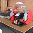 Monzana Doppelschleifer vibrationsarm Funkenschutz Schleifmaschine