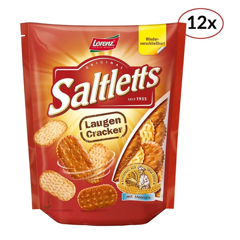 Lorenz Saltletts Laugencracker Cracker 12 x 150g