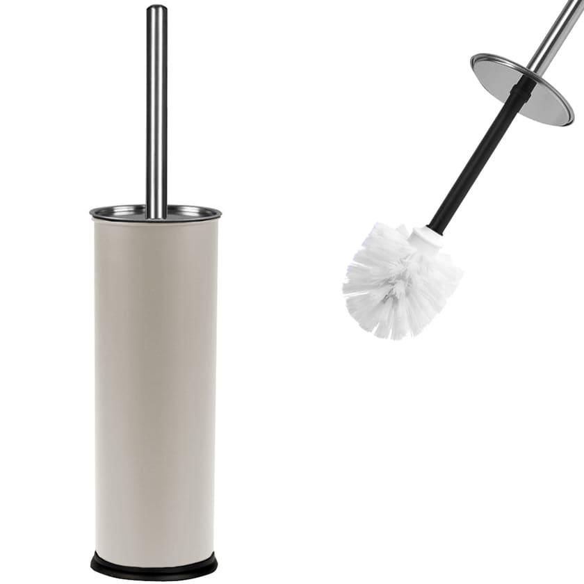 Deuba Toilettenbürste mit Behälter Weiß