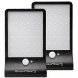 Monzana Solar Wandleuchten mit Bewegungsmelder 36 LED'S Kompakt 2x