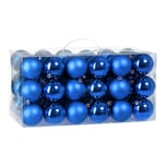 Casaria Christbaum Kugeln 54tlg. - blau