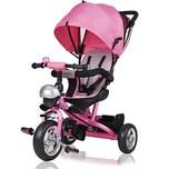 Deuba Dreirad mit Sonnendach Kinderdreirad in pink