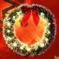 Casaria LED Weihnachtskranz 32 cm Türkranz Tischkranz Rot