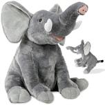 Deuba XL Stofftier Plüschtier Elefant