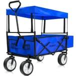 Deuba Bollerwagen faltbar blau