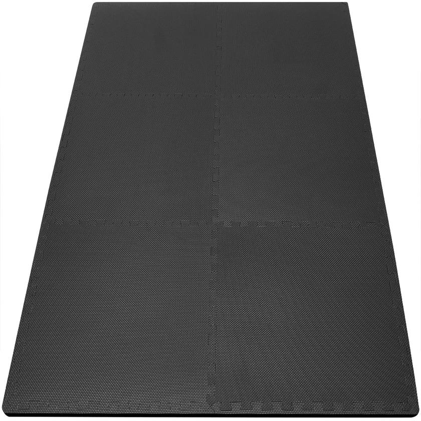 Bodenschutzmatte 6er SET schwarz - Puzzlematte - 183,5 x 123,5cm