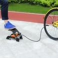 Deuba Doppel-Stahlzylinderkolben Fußpumpe Professional