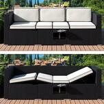 Deuba Poly Rattan Couch Gartenliege