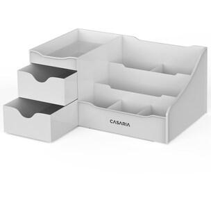Casaria Schreibtisch Organizer Kosmetikorganizer Aufbewahrung Grau