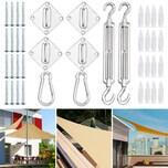 Detex Sonnensegel Befestigung Kit Sichtschutz Montage Material Komplettset