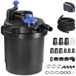 Gardebruk Druckteichfilter 6000 L/h - 11 Watt UVC Filter inkl. Pumpe