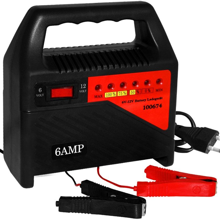 Deuba Batterieladegerät 6V 12V Autobatterie Ladegerät