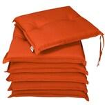 Deuba Stuhlauflagen 6er Set wasserabweisend Orange