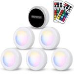 Monzana LED Schranklicht Skab 6er Set bunt