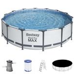 Steel Pro Max™ Pool - Ø 427x107cm + Filterpumpanlage + Filterkartusche